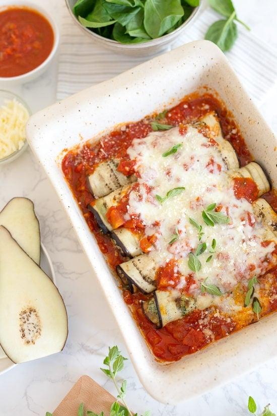 Eggplant Rollatini Skinnytaste