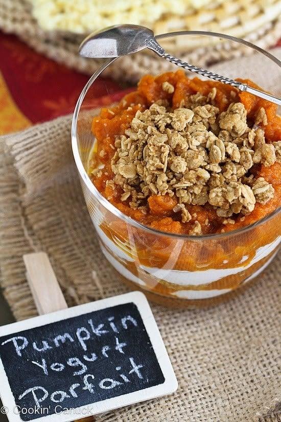 Spiced Pumpkin Yogurt and Granola Parfait
