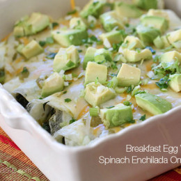 """Low-Carb Breakfast Enchiladas are gluten-free, grain-free and vegetarian by using egg whites as a """"tortilla""""."""