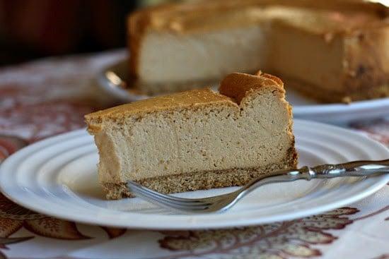 Low Fat Pumpkin Cheesecake