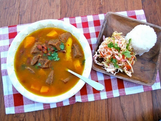 Red Bean Soup with Beef and Pumpkin