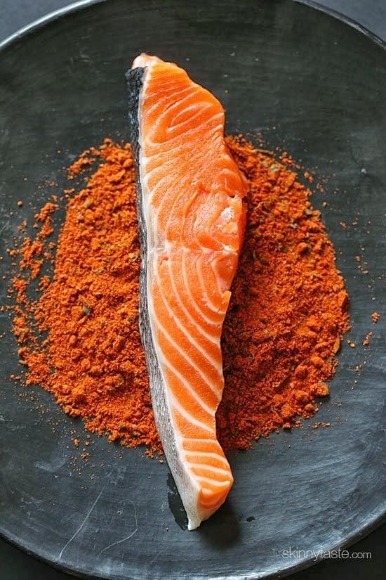 Blackened salmon with mango salsa skinnytaste for Blackened fish seasoning