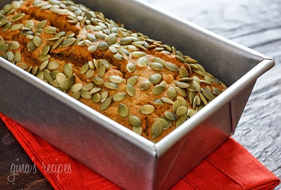 Low Fat Pumpkin Bread with Pepitas