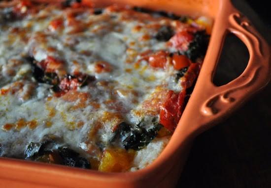 Roast Pumpkin and Kale Lasagna