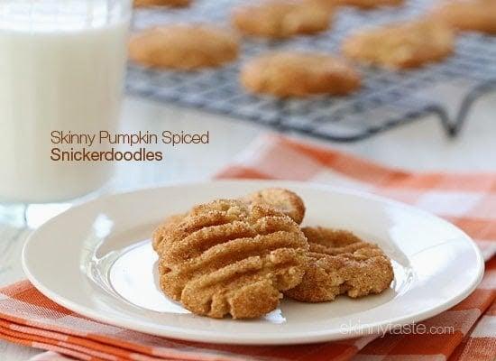Skinny Pumpkin Spiced Snickerdoodles