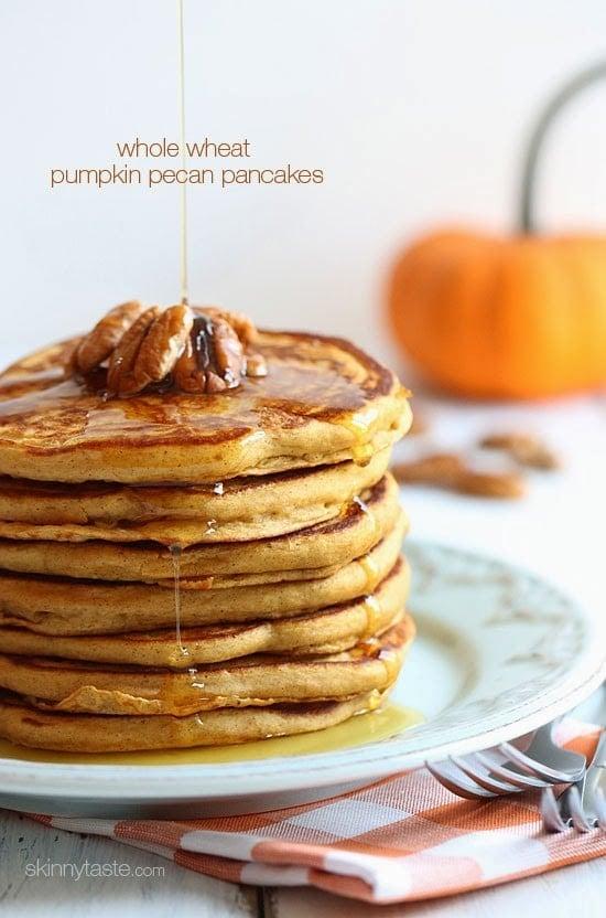 Whole wheat buttermilk pancakes made with white whole wheat flour ...