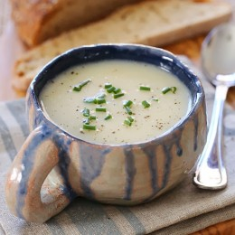 Dad's Creamy Cauliflower Soup was always a favorite growing up, and made with just 5 ingredients!