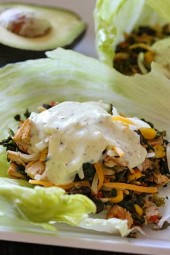 Leftover-Turkey-Santa-Fe-Lettuce-Wraps