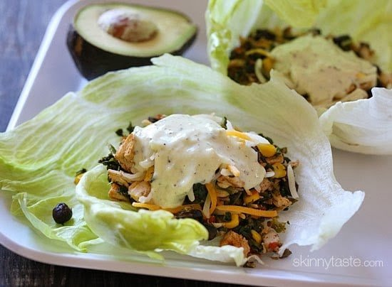 These Santa Fe turkey lettuce wraps are SO good, you'll WANT to save some leftover turkey just to make them (or leftover chicken breast would work too)!