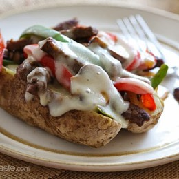 Quick-Philly-Cheesesteak-Baked-Potato