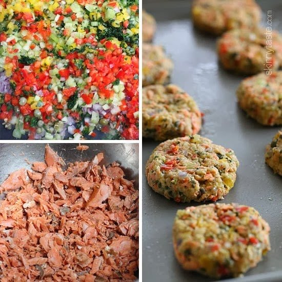How to make baked salmon patties.