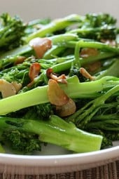 Broccolini, also known as baby broccoli, makes a fantastic, quick side dish and compliments just about anything from beef roasts, lamb, fish, turkey, chicken, lasagna and more.