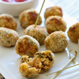 baked-mini-sausage-and-spinach-arancini