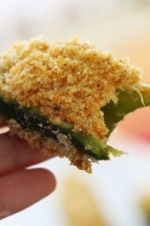 The little bite sized babies might be cute, but watch out – they pack a little punch! I love jalapeno poppers AND buffalo chicken so I decided to combine them both and really spice things up!