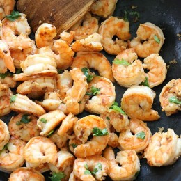 Cilantro and lime make this simple shrimp dish outstanding – and it takes just minutes to make!