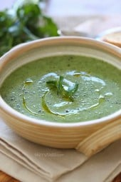 Cold winter nights call for hot soup. This cauliflower watercress soup is healthy and light, with a perfect creamy texture from the cauliflower.