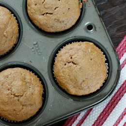 low-fat-peanut-butter-banana-muffins