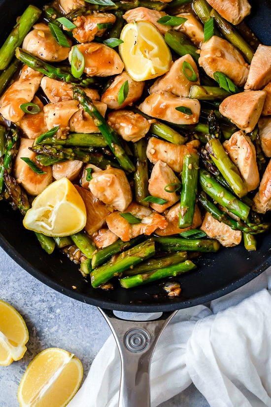 Chicken And Asparagus Lemon Stir Fry Recipe