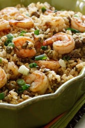 dirty-brown-rice-with-shrimp