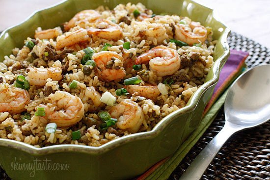 Dirty Brown Rice With Shrimp Skinnytaste