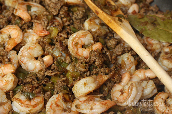 Dirty brown rice with shrimp skinnytaste What to make with shrimp for dinner