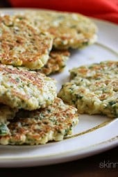 This is a delicious way to prepare cauliflower. It's similar to the taste of a potato pancake and makes a fabulous side dish – your kids will love them!