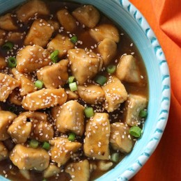 Sweet, spicy and flavorful – this lighter alternative to the popular Chinese fast food take-out dish orange chicken and is quick and easy to make!