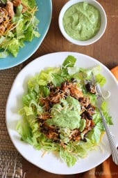 crock-pot-chicken-and-black-bean-taco-salad