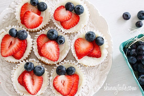 Red, White and Blueberry Yogurt Cupcakes