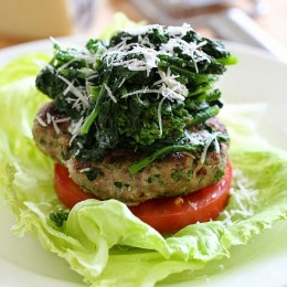 These Turkey Burgers with Broccoli Rabe are flavorful and delicious – the perfect quick, weeknight meal!