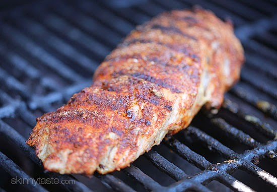 This easy Grilled Cumin Spiced Pork Tenderloin is perfect for summer nights. I season it with a quick, flavorful rub then throw it on the grill.