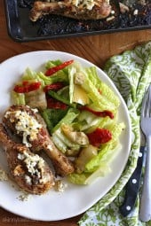 Lemon Feta Chicken with Oregano are made with Mediterranean ingredients such as lemon, oregano and feta cheese which turns ordinary chicken into a spectacular dinner. The cheese forms a light crust on top when broiled – you won't even miss the skin!