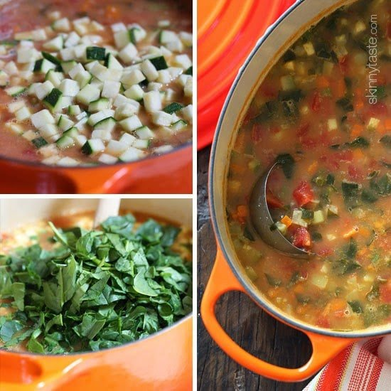 how to make minestrone soup.
