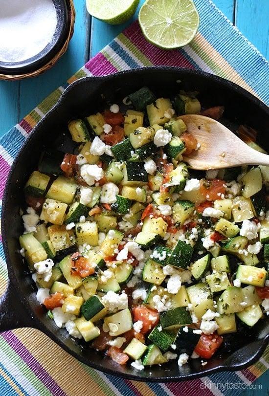 Skillet Mexican Zucchini