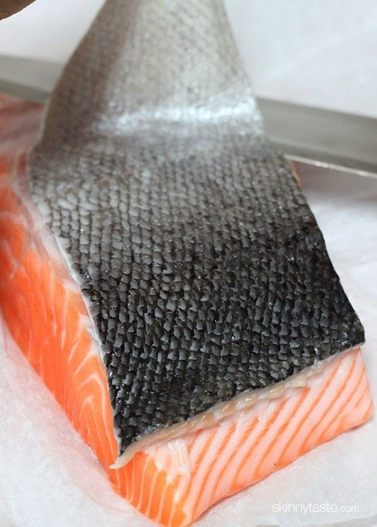how to clean salmon skin