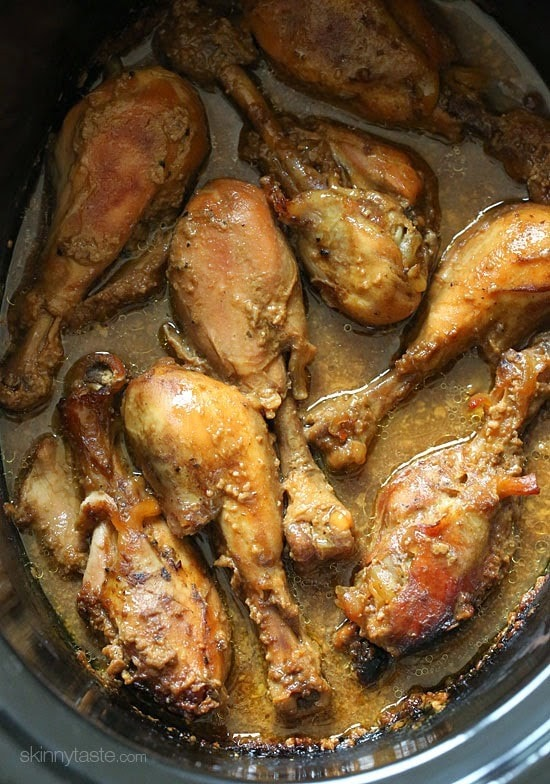 Crock Pot Maple Dijon Chicken Drumsticks – EASY, made with 6 ingredients!