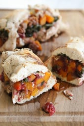 Turkey tenderloins stuffed with a sweet and savory filling of butternut squash, cranberries, sage and pecans – this tastes like Thanksgiving, all wrapped up in one dish!