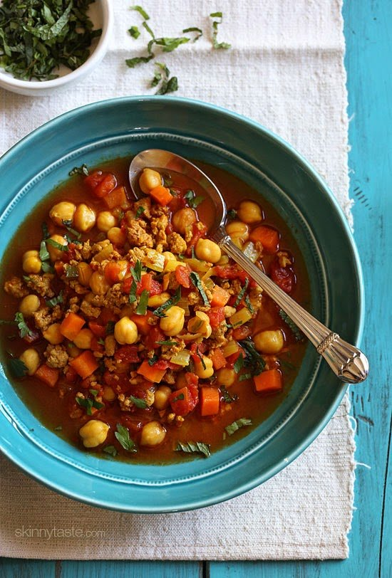 Slow Cooker Moroccan Chickpea And Turkey Stew Skinnytaste