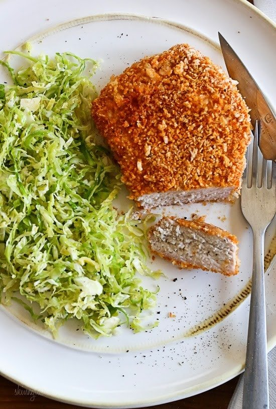 Oven Quot Fried Quot Breaded Pork Chops Skinnytaste