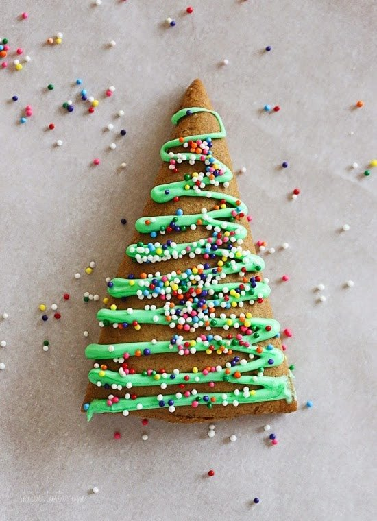 these gingerbread cookies are made with a fraction of the butter yet they still have - 3 Christmas Tree