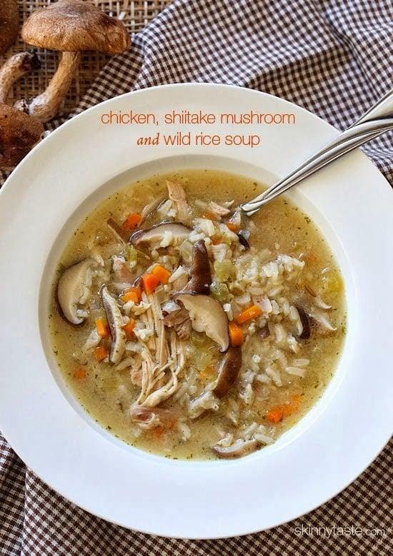 Chicken, Shitake and Mushroom Wild Rice Soup