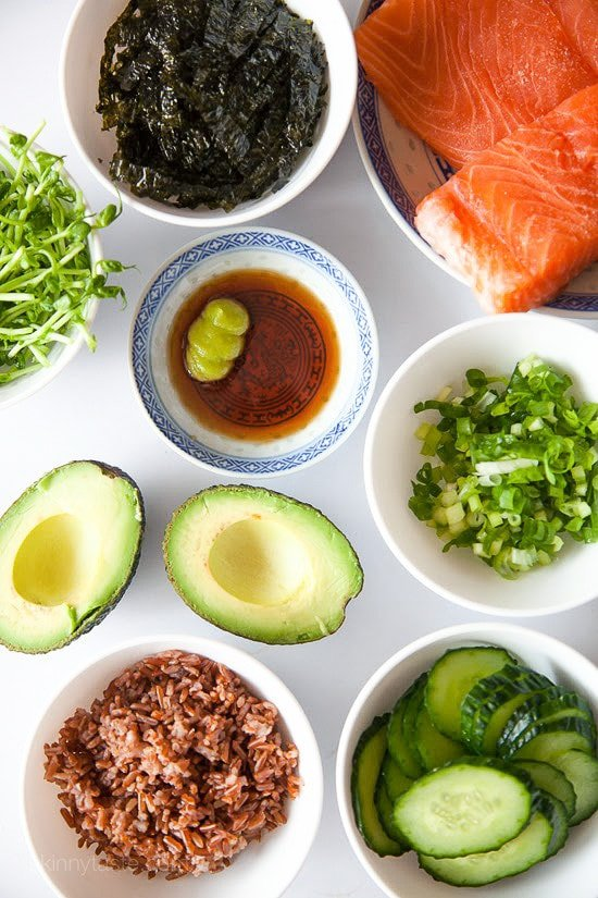 Seattle Asian Salmon Bowl –EASY, healthy, sushi bowls you can make at home!