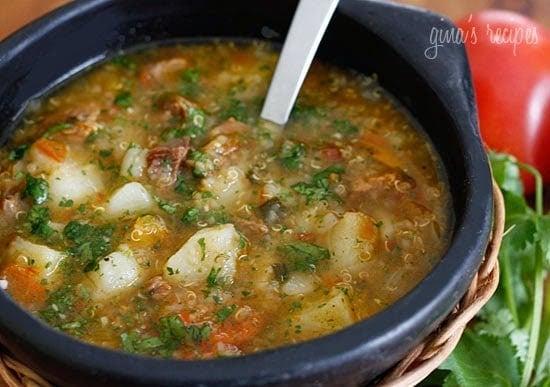 Beef Potato Quinoa Soup