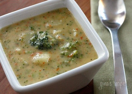 Broccoli Potato and Cheddar Soup