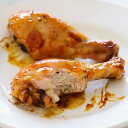 Sweet, succulent roasted chicken. Get a napkin and be prepared to get your fingers dirty!