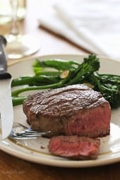 This easy recipe will give you perfect Filet Mignon every time. As a steak lover, I can't think of a better meal to enjoy for on special occasions such as date night, Valentine's Day or birthdays!