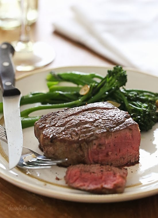 This easy recipe will give you perfect Filet Mignon every time. As a steak lover, I can't think of a better meal for two to enjoy for on special occasions such as date night, Valentine's Day or birthdays!