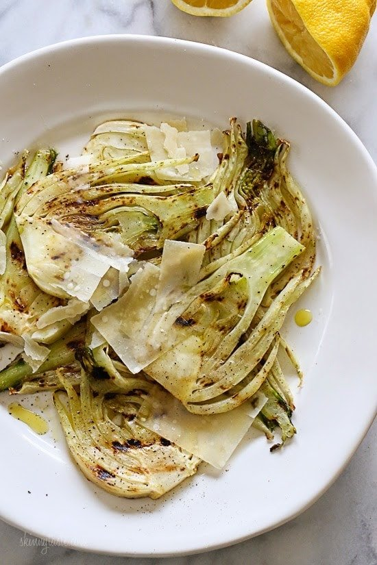 Grilled Fennel with Parmesan and Lemon