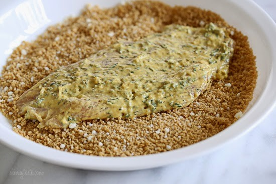 cheese on a plate. Lightly brush each breast in the mustard-herb ...