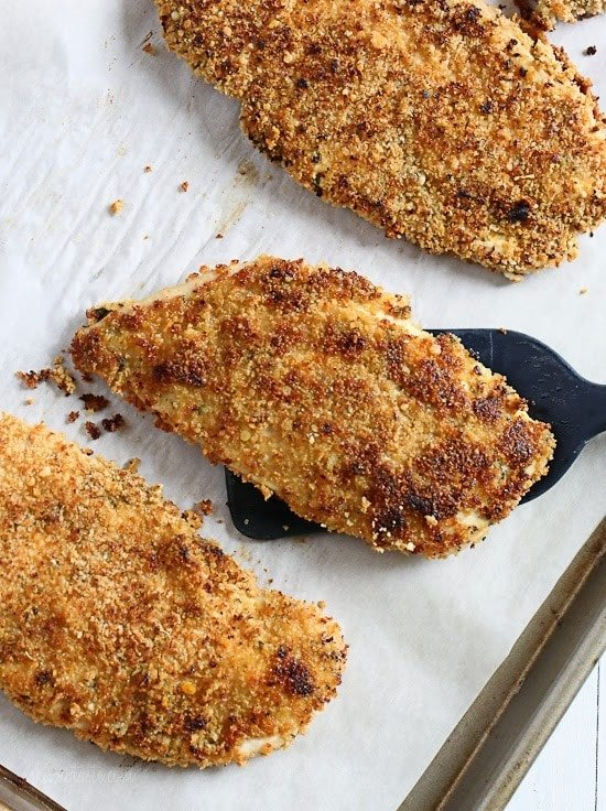 Mustard Herb Crusted Chicken Breasts - quick, light and delicious!